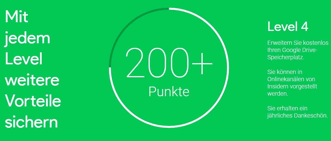 Google Insider_mehr als 200 Punkte Level 4