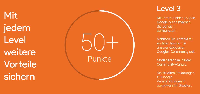 Google Insider_mehr als 50 Punkte Level 3