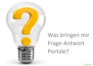 Was bringen mir Frage-Antwort Portale für meine Website ?
