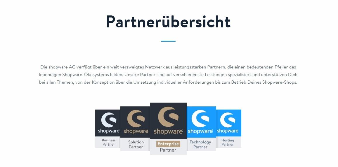 Die shopware AG verfügt über ein weit verzweigtes Netzwerk aus leistungsstarken Partnern