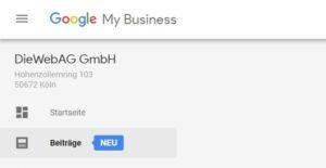 Beiträge erstellen auf Google MyBusiness