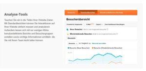 Komplette Webstatistiken und Sucheinblicke