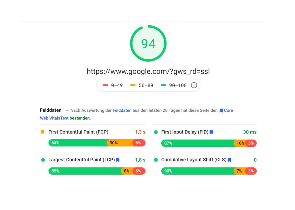 Google Web Vitals - Einfluss auf Seo